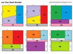 6x6 One Sheet Wonder Card Sketch Formulas with Samples