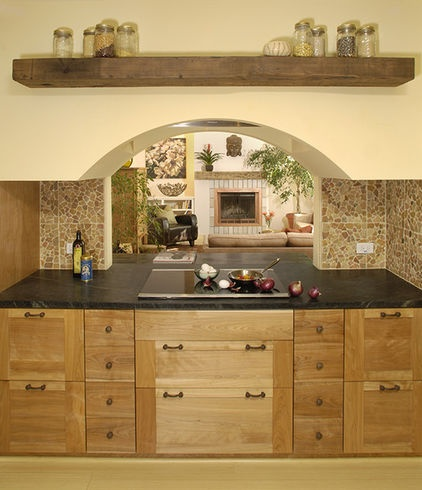 ... stop - amazing kitchen space with wooden cabinets vanity glossy sink
