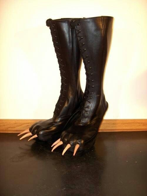 Scary shoe - we both need a pair of these to wear when we go thrift shopping
