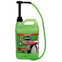 Slime Tube Sealant, 1 Gallon Bottle, with Pump, for All Tires with Tubes, Non-Toxic, Single Bottle SLMSB-1G