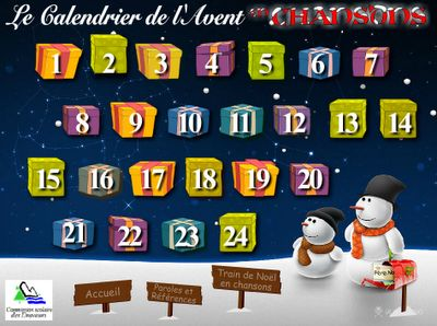 """""""Noël en chansons"""" is a site showcasing a student choir from Quebec and karaoke-style videos to help teach your students the words."""