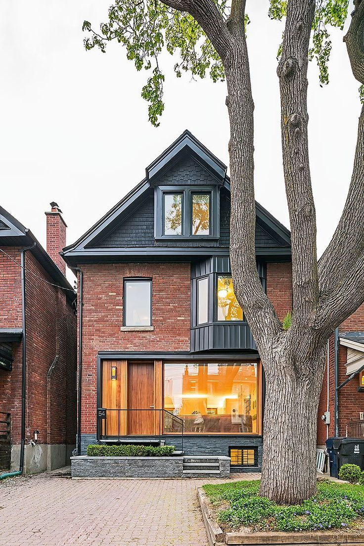 LOVE the mix of history and modernism.  Mwah.  Toronto Infill Home by JCI Architects.