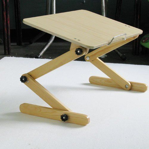 Bamboo Computer Desk Lap Lep With Lamp Laptop Pc Product On Alibaba