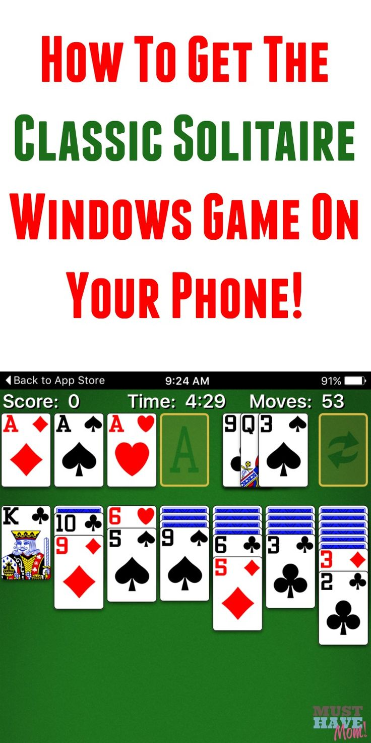 Remember the classic Windows solitaire game on your computer? Get the same game now for your phone! Play solitaire when waiting in the waiting room, on the bus, waiting in line, and more! Sponsored