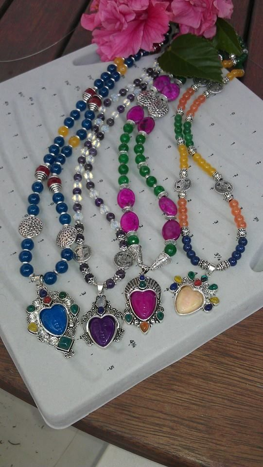 Tribal Necklaces Genuine Gemstones and Tibetan Silver Fittings From $80