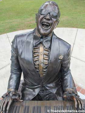Ray Charles statue: Greenville, FL