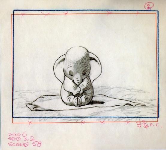 Un moment qui me laisse toujours les larmes aux yeux.  Dumbo