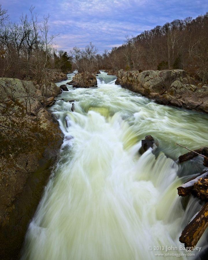 Running Water, Potomac River at Great Falls Park in Maryland.