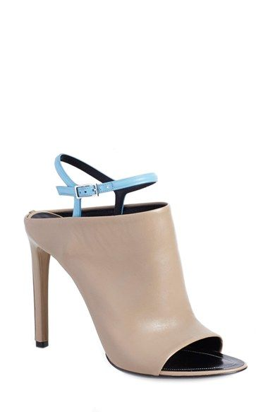 Balenciaga 'Glove' Bicolor Leather Open Toe Sandal (Women) | Nordstrom