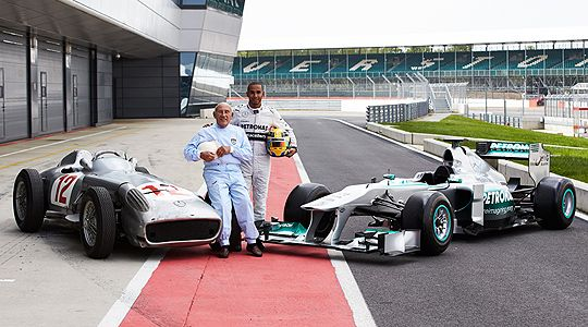 Hamilton and Moss: Two eras, two British Mercedes GP stars