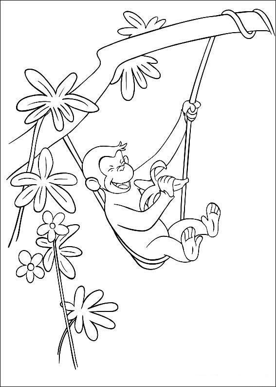 Coloriage Dessins. Georges le petit curieux 34