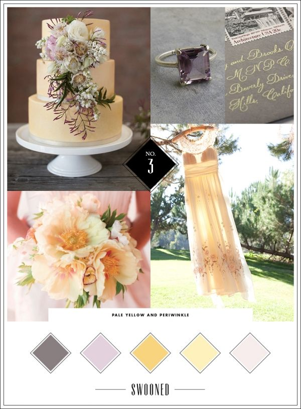 Mood Board 3 Pale Yellow Periwinkle Wedding Color