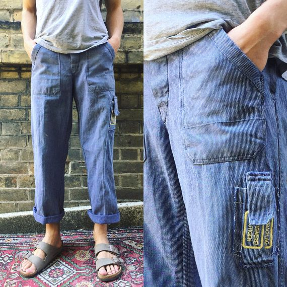 Vintage Hickory Workwear Chore Pants/ Trousers