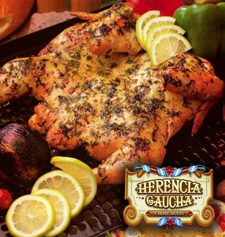 Pollo a la parrilla Herencia Gaucha www.facebook.com/HerenciaGauchaColombia