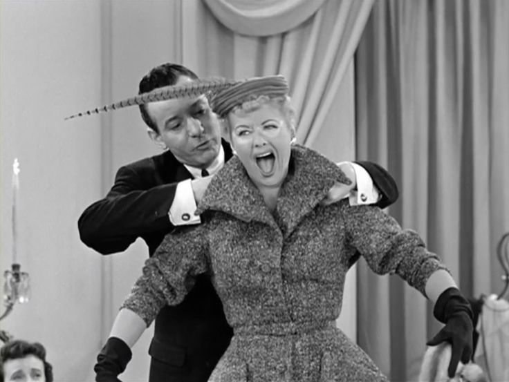 Nothing will stop Lucy getting into that Don Loper gown - not even severe sunburn - in the I Love Lucy episode, 'The Fashion Show'