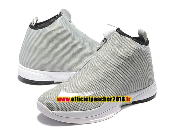 Nike Zoom Kobe Icon Chaussures Officiel Pas Cher 2016 Pour Homme Gris / Blanc