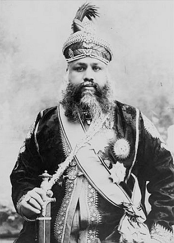 Maharaja Madho Singh    Material  Negative on glass plate.