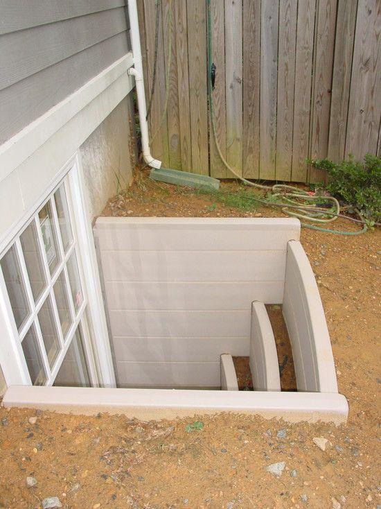 great idea for a basement egress window window box type steps