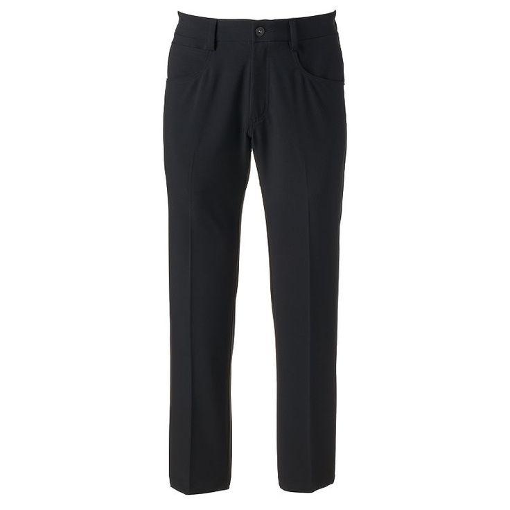 Men's Lee Straight-Fit 5-Pocket Stretch Pants, Black