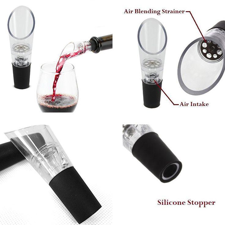Amazon.com | ELSKY Wine Aerator Pourer-Aerating Decanting Spout Liquor Pourers Wine Bottles Wine Aerator Stopper (Set of 5): Liquor Decanters