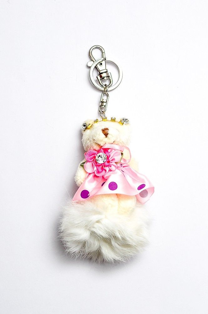 Doll Key Chain DKC04/ Bag Charm White Rp 60.000