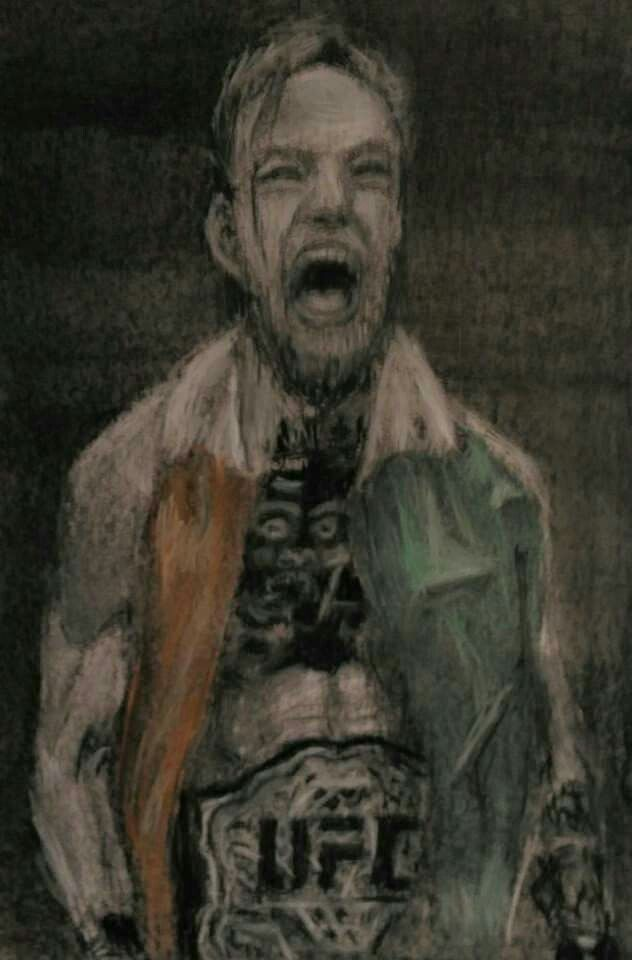 Conor McGregor -charcoal