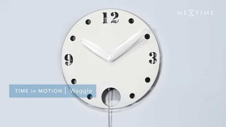 NeXtime - Waggle - 3102 We are always looking for new ideas and new material that give special effects. The bath chain pendulum gives a funny waggle and make this funky clock into a great gift item for anyone.
