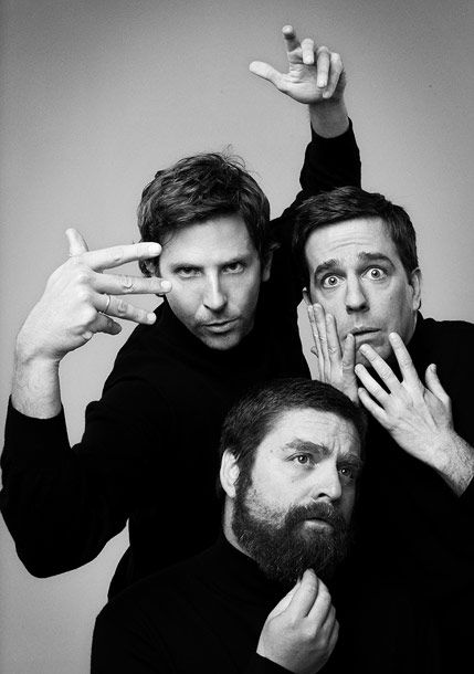 Bradley Cooper, Ed Helms and Zach Galifianakis EW, May 2011