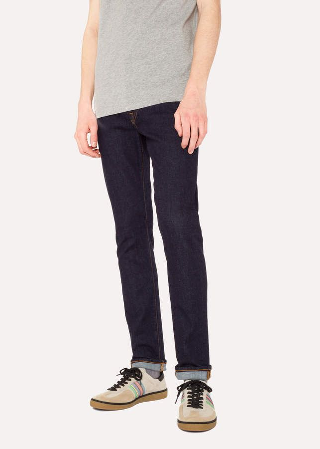 4ef28f3f Paul Smith Men's Skinny-Fit 9.5oz Indigo-Rinse Stretch-Denim Jeans ...