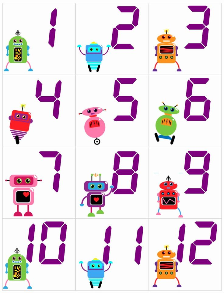 Little robots classroom calendar number sets from Betsy Weigle's Classroom Caboodle $2