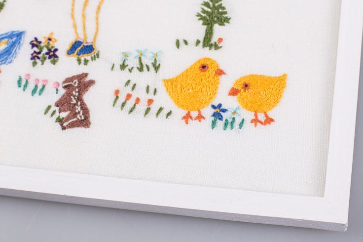 Little Girl With Chickens #polaparysek #embroidery #stiches #craft #handmade #tradition #freetime #onceuponatime #fairytale #storytelling