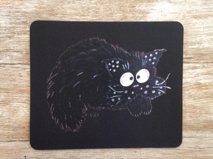 Tapis de souris avec chat-fouin ardoise : Autres papeterie par eleanor-gabriel