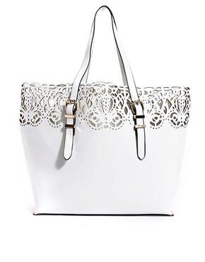 New Look Baroque Lasercut Tote Bag