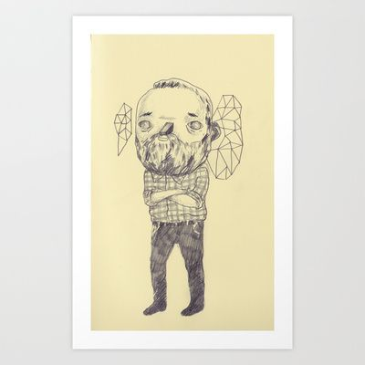 Staring Art Print by Júlio Dolbeth - $19.00