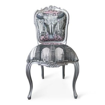 SILVER STEER CHAIR