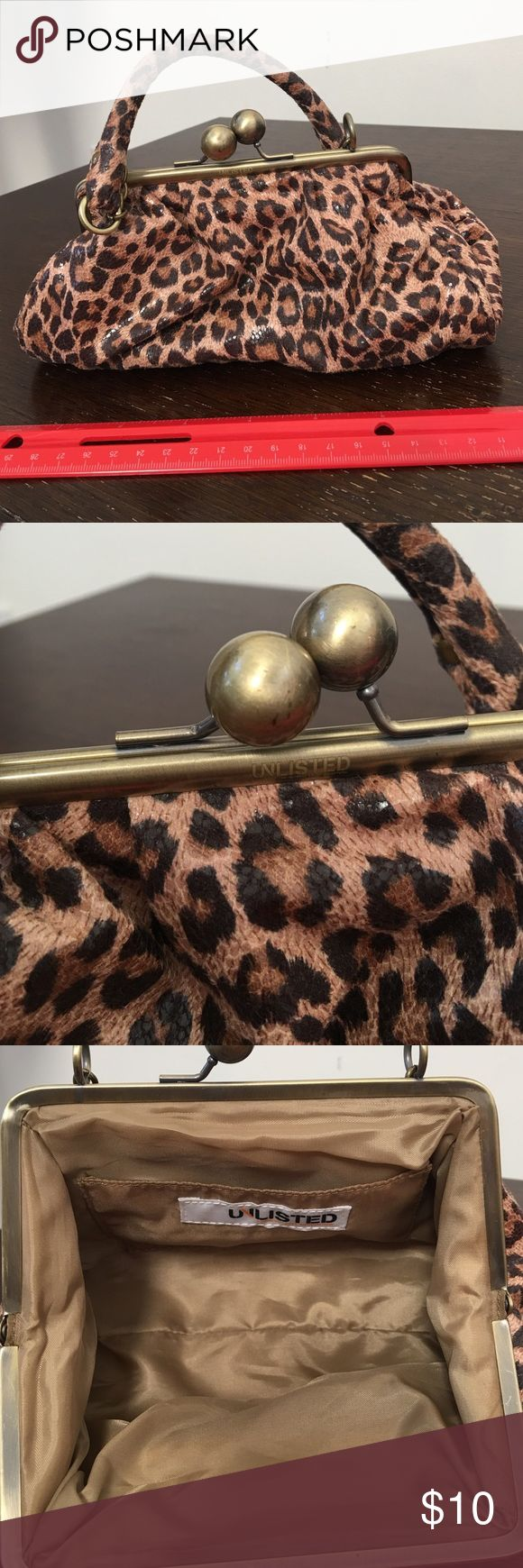 Cute Leopard Print Bag Cute Leopard Print Bag; never used Unlisted Bags Clutches & Wristlets