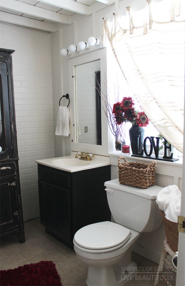 Cottage Bathroom Makeover Texture Love Snippets of