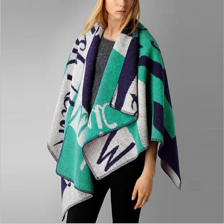 Brand name Letters scarf unisex Winter shawl