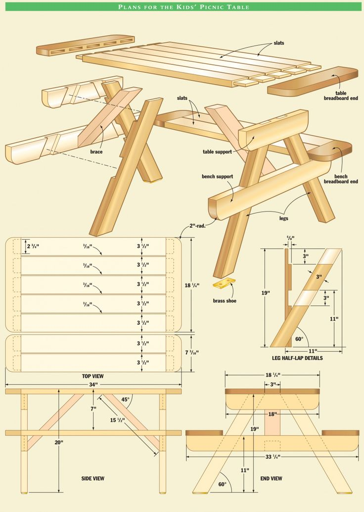 Best 25+ Picnic Table Plans Ideas On Pinterest | Picnic Tables