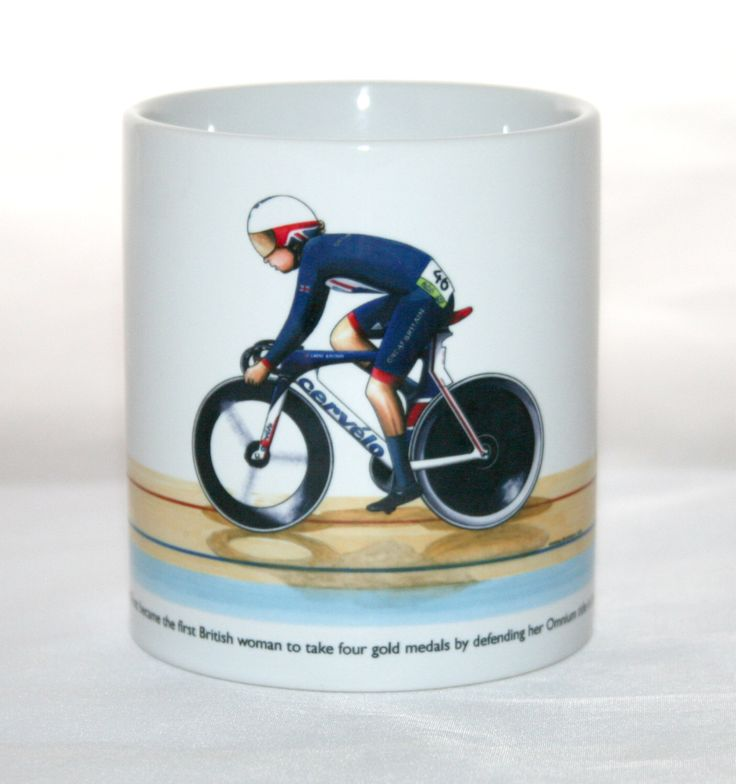 Cycling Mug. Laura Trott, Omnium, Rio 2016 Olympics by GMorganIllustration on Etsy https://www.etsy.com/uk/listing/492618869/cycling-mug-laura-trott-omnium-rio-2016