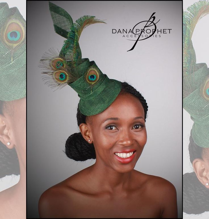 Peacock Twist. Glorious emerald green colours combined with peacock feathers make this elegant fascinator. https://danaprophetaccessories.com/fascinators/peacock-twist-sinamay-fascinator/ #hat #fascinator #races #durbanjuly #horse #horserace #southafrica #fashion #style #kentuckyderby #sinamay #celebrations #wedding #bridal #bridesmaids #derbyhat #feather #headpiece #melbournecup #royalascot #derbyday #Oaksday #accessories #danaprophetaccessories #peacock #peacockfeather #green