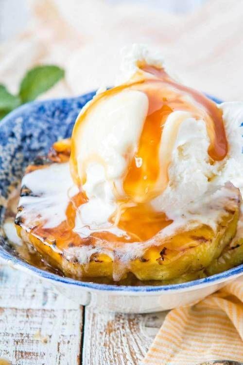 Brown Sugar Grilled Pineapple SundaesFollow for recipesGet your  Mein Blog: Alles rund um Genuss & Geschmack  Kochen Backen Braten Vorspeisen Mains & Desserts!