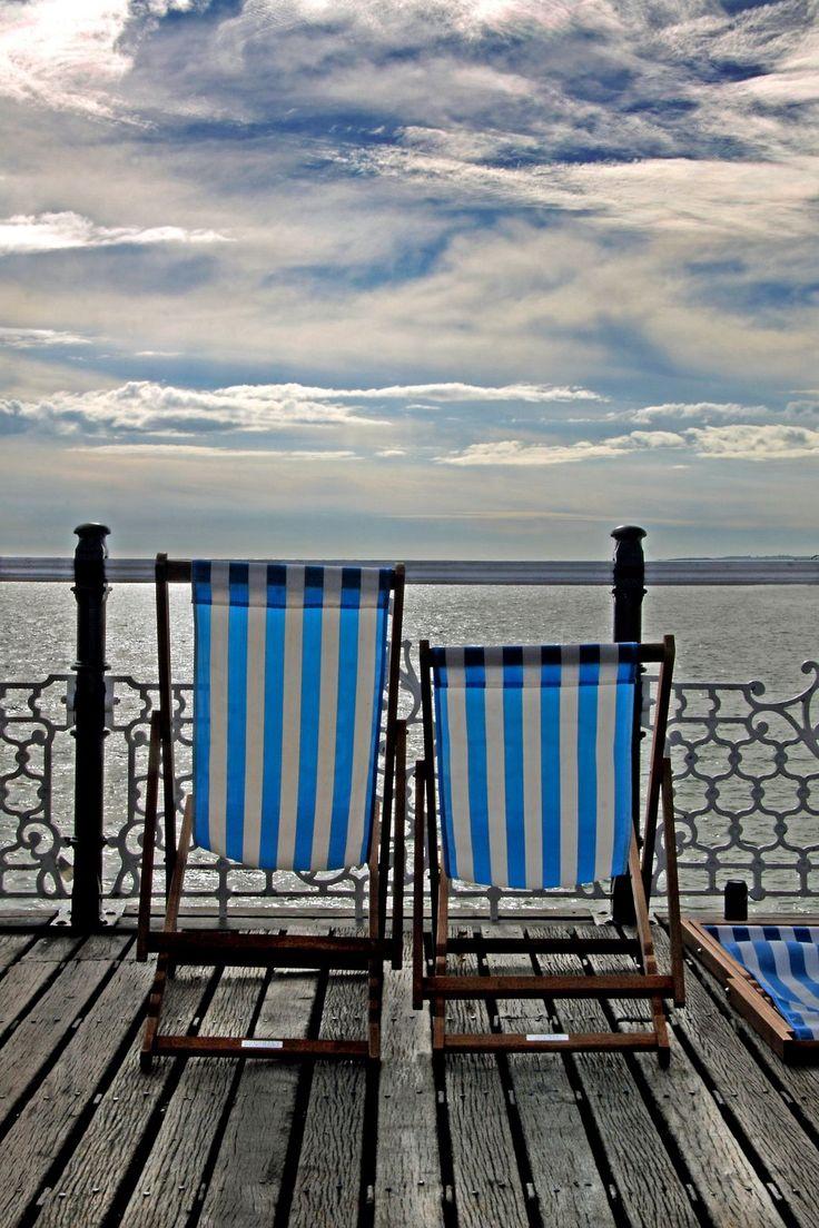 Deckchairs on Brighton Pier