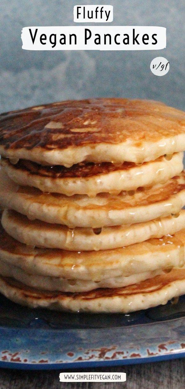 Fluffy and Moist Vegan Pancakes