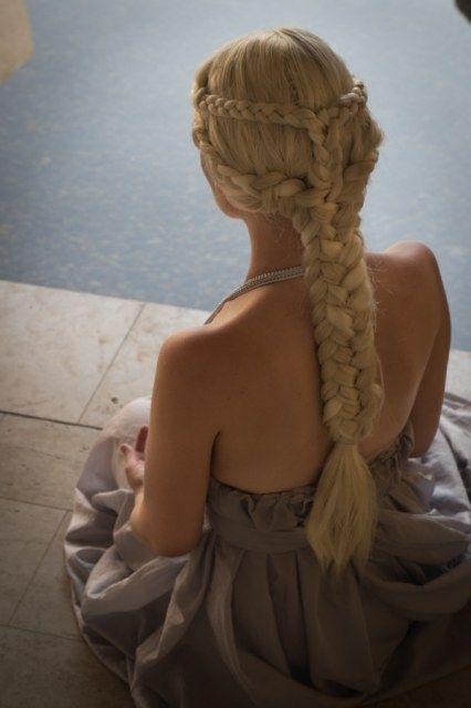 Game of Thrones Daenerys Targaryen hairstyle