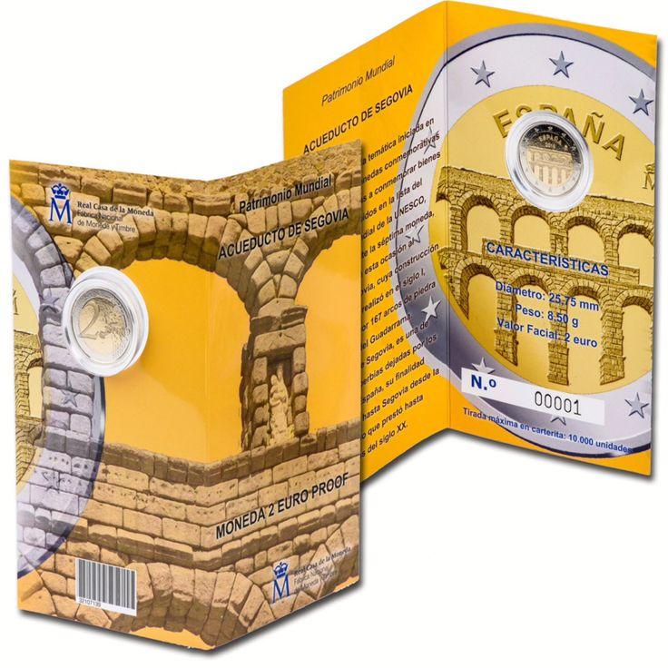 Segovia Aqueduct on New Spanish €2 Coin