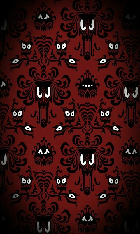 Red haunted mansion wallpaper