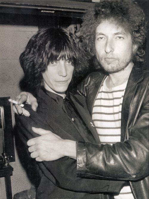 Patti Smith and Bob Dylan