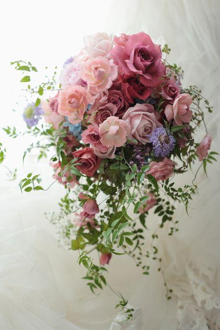 セミキャスケードブーケ ホテル ザ・プリンス パークタワー様へ : 一会 ウエディングの花