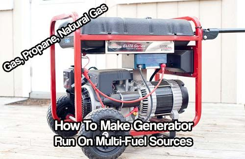 How To Make Generator Run On Multi-Fuel Sources. Convert a normal generator to run on gas, propane and even natural gas. You now have 3 ways to have power.